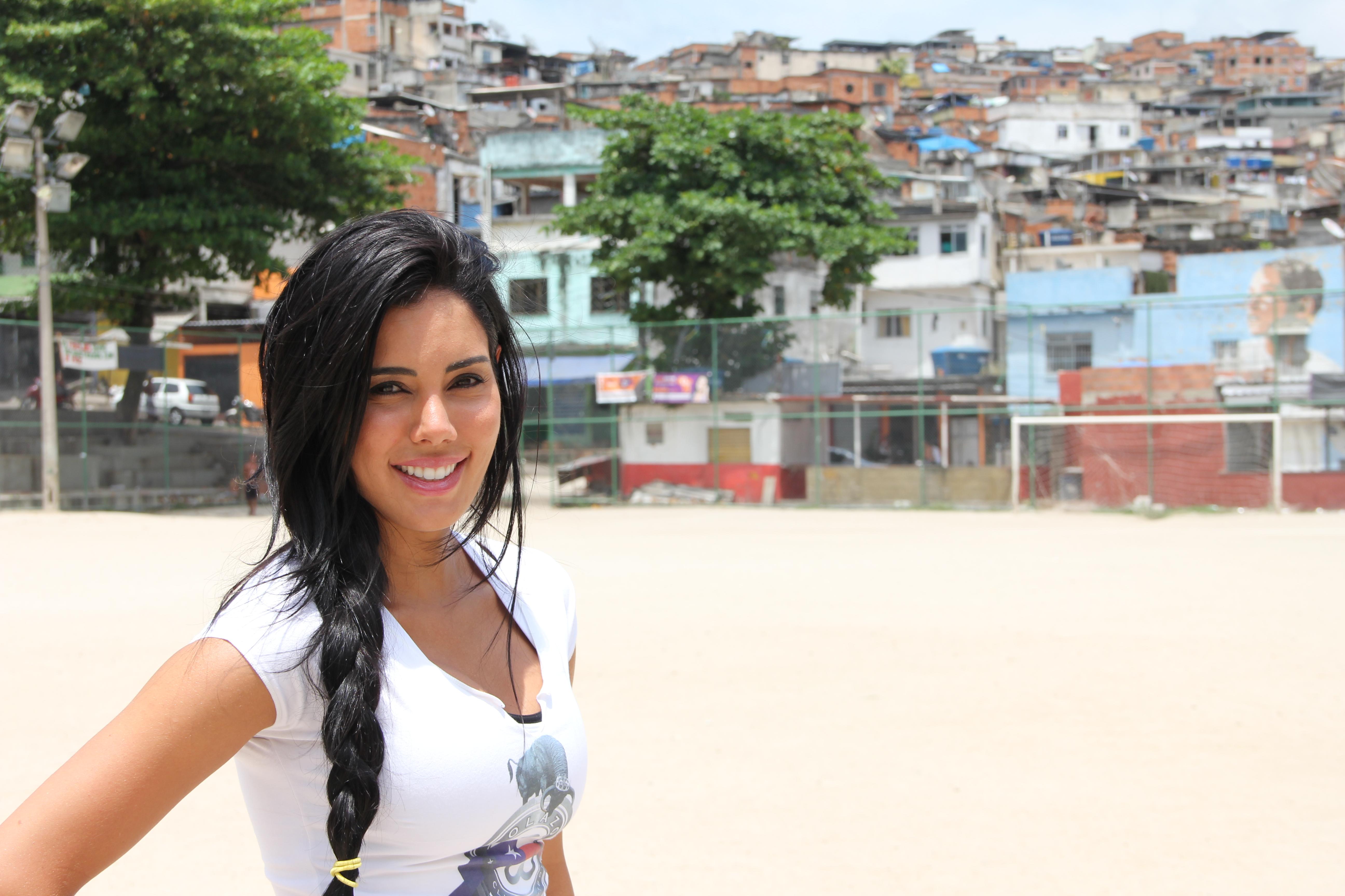 brunette from Brazil